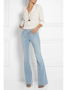 Blouse EVA manche longues en soie blanc ivoire Prix boutique 525€ Taille 34