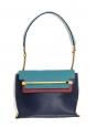 Sac CLARE medium en cuir bleu marine, bleu canard et bordeaux Prix boutique 2250€