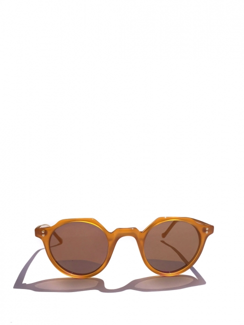 HERI Honey yellowl frame sunglasses with caramel brown mineral lenses Retail price €350 NEW