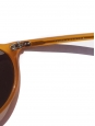 LESCA LUNETIER HERI Honey yellowl frame sunglasses with caramel brown mineral lenses Retail price €230 NEW