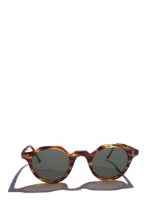 HERI Tortoiseshell brown frame sunglasses with dark grey mineral lenses