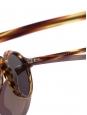Lunettes de soleil HERI monture biseau écailles marron camel et miel verres minéraux gris foncé