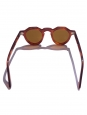 LESCA LUNETIER PICA caramel brown frame luxury sunglasses with mineral lenses Retail price €350 NEW