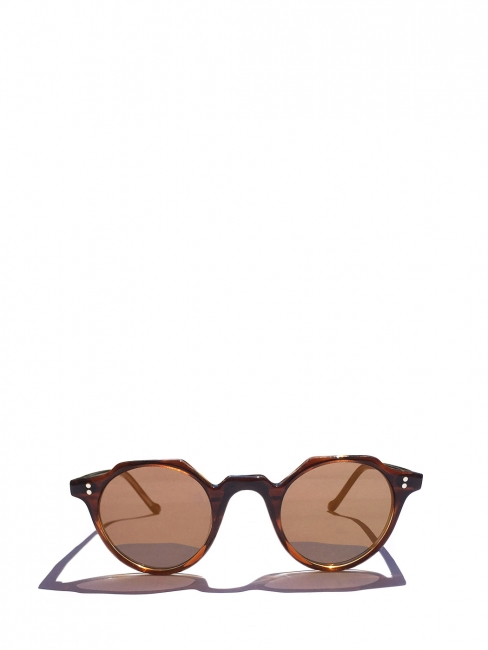HERI Camel brown frame sunglasses with mineral lenses Retail price €350 NEW