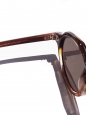 LESCA LUNETIER HERI Camel brown frame sunglasses with mineral lenses Retail price €350 NEW