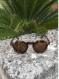 LESCA LUNETIER Lunettes de soleil PICA monture écailles marron verres minéraux Prix boutique 350€ NEUVES