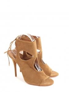Sandales Sexy Thing à talons fins en cuir camel NEUVES Px boutique €460 Taille 40