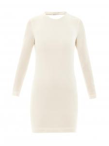 Robe Gaia dos nu près du corps en crêpe blanc ivoire Prix boutique 385€ Taille 38