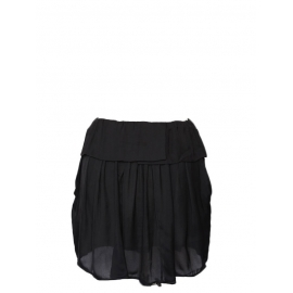 Black fluid low waist skirt Retail price €290 Size 36