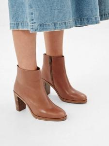 APC PARIS Bottines boots Chic à talon en cuir marron NEUVES Px boutique 360€ Taille 40