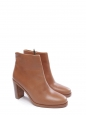 Bottines boots Chic à talon en cuir marron NEUVES Px boutique 360€ Taille 40