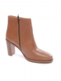 APC PARIS CHIC Brown leather ankle heel boots NEW Retail price 360€ Size 40