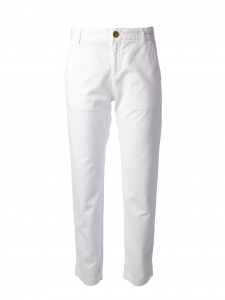 CURRENT ELLIOTT Pantalon chino femme THE BUDDY slim fit en coton blanc Px boutique 240€ Taille 36