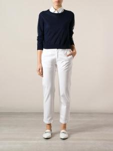 CURRENT ELLIOTT Pantalon chino femme THE BUDDY slim fit en coton blanc Px boutique 240€ Taille 36