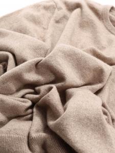 Pull col rond en cachemire beige NEUF Prix boutique 500€ Taille 38 à 40