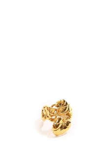 Gold-plated nympheas leaves ring Retail price €245 Size 57