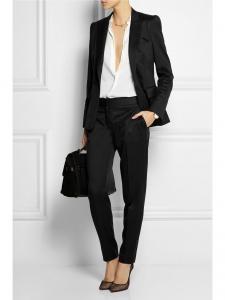Veste blazer INGRID classique bleu marine un bouton Px boutique $1095 Taille 34
