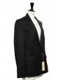 INGRID Classic black wool twill blazer jacket Retail price $1095 Size 36