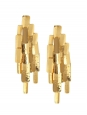 Machu Picchu 18-karat gold-plated clip earrings Retail price $903