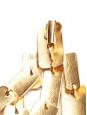 Machu Picchu 18-karat gold-plated clip earrings Retail price $903