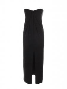 Robe bustier mi-longue en jersey noir Prix boutique 900€ Taille S
