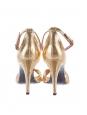 TWIST gold leather heel sandals Retail price €620 Size 38.5