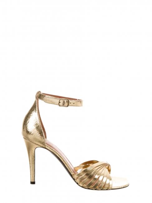 TWIST gold leather heel sandals Retail price €620 Size 36