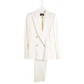 Tailleur veste blazer DRYAM et pantalon DALLIN blanc ivoire Prix boutique 1180€ Taille 36 à 38