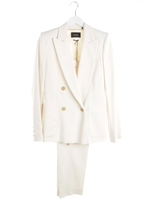 Ivory white suit with Dryam blazer jacket and Dallin pants Retail price €1180 Size 36 to 38