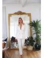 ISABEL MARANT Tailleur veste blazer DRYAM et pantalon DALLIN blanc ivoire Prix boutique 1180€ Taille 36