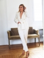 ISABEL MARANT Ivory white suit with Dryam blazer jacket and Dallin pants Retail price €1180 Size 36