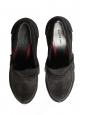 Escarpins mocassins à talon en suede noir Px boutique 600€ Fall 2010 Taille 35,5