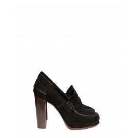 Black suede oxford loafer pumps NEW Retail price $950 Size 35.5