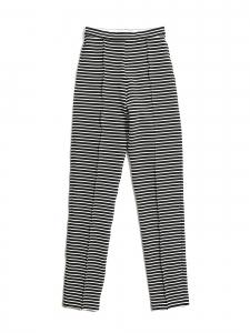 Pantalon slim fit taille haute rayé noir et blanc Prix boutique 215€ Taille XS