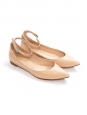 Nude beige patent leather GIA point-toe ballet flats Retail price €420 Size 37.5