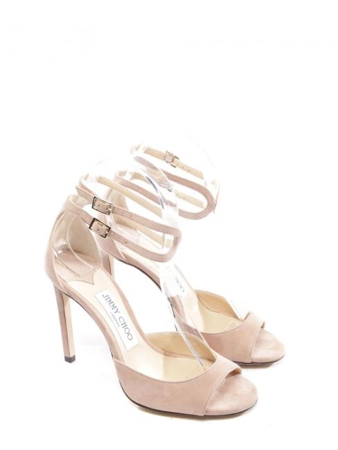 Sandales Lane à talon en suede beige rosé NEUVES Px boutique 650€ Taille 36
