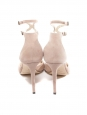 JIMMY CHOO Sandales Lane à talon en suede beige rosé Px boutique 650€ Taille 36