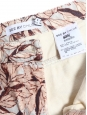 Beige, pink and burgundy floral print slim fit jeans Retail price €260 Size 36