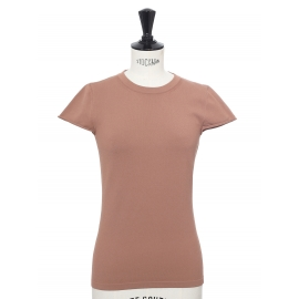 Old pink stretch jersey short sleeves top Retail price €865 Size XS