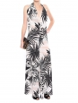 Black, white and pink tropical palm print overalls Retail price €1000 Size 36