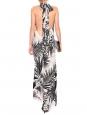 Combinaison pantalon dos nu en soie imprimé tropical Px boutique 1000€ Taille 36