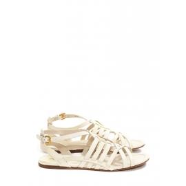 Sandales plates Gladiator en cuir blanc crème Prix boutique 550€ Taille 38
