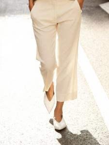 Chaussures plates à brides ESSENTIAL en cuir blanc NEUVES Prix boutique 490€ Taille 39