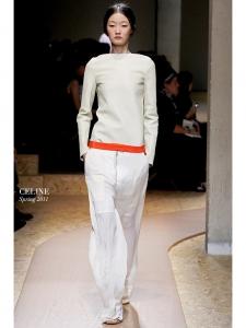 Pantalon fluide en crêpe blanc ivoire zip argent Prix boutique 800€ Taille 38