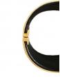 Gold tone textured brass cuff bracelet Retail price €560 Size M