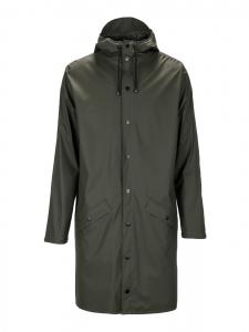 RAINS Khaki green long rain coat Retail price €95 Size S