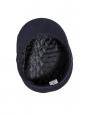 Navy blue wool felt Breton yachting cap Size 57