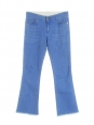 STELLA MCCARTNEY Jean flare cropped taille haute bleu vif Prix boutique 275€ Taille 30