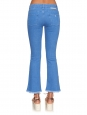 STELLA MCCARTNEY Frayed-hem mid-rise flared cropped blue jeans Retail price €275 Size 30