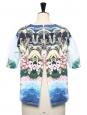 Blouse manches courtes en coton imprimé Hawaï Prix boutique 490€ Taille 36